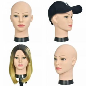 Light brown 22.5 Canvas Block Head Mannequin Head for Hair Extension Lace Wigs Making and Display Styling Mannequin Manikin Head/
