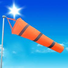"80cm Airport Windsock 30"" Long Outdoor Wind SOCK w/ Reflective Belts Grommet"