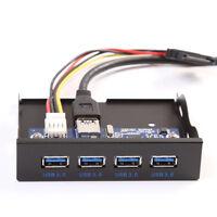 "20 Pin Motherboard 4 Port USB3.0 Internal Hub 3.5"" Floppy Drive Bay Front Panel"