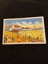 Ocean Pier & Boardwalk Wildwood by the Sea New Jersey Vintage Postcard 6A-H2217