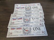 VINTAGE LOT 6 CONSECITIVE TOP DOG DOLLARS 1996 SERIES  SCRANTON WILKES-BARRE PA