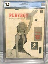 Playboy #1 CGC 3.5 V1 #1 December 1953