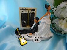 Bride Groom Wedding Cake Topper MUSIC GUITAR Rock & Roll N Band ETHNIC Hispanic