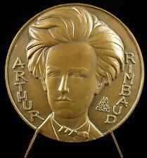 Médaille Arthur Rimbaud ce passant considérable poète Symbole révolte poet Medal