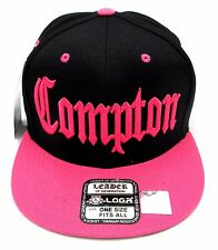 COMPTON Snapback Hat South Central Los Angeles Cap Black Pink LA RAIDERS New