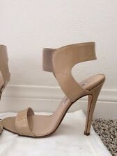 Manolo Blahnik Size 36 Pepe Patent Leather Sandal, Nude, Open Toe