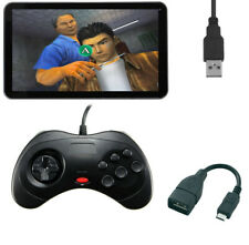 6 Button USB Controller Joystick Game Pad Sega Saturn Style Fighting Android PC