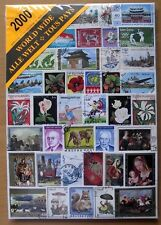 STAMP JUMBO SIZE-2000 MIXED WORLD STAMPS-USED OFF PAPER-ALL DIFFERENT