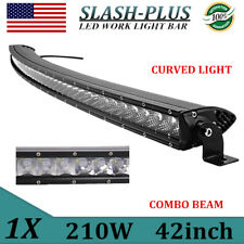 "SLIM 42""inch 210W Curved LED Light Bar Single Row Combo Offroad Truck ATV VS 40"""