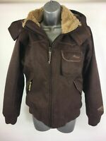 WOMENS PROTEST BOARDWEAR BROWN ZIP UP HOODED PADDED SHORT JACKET SIZE SMALL