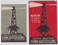 F-Ex14486 Germany Cinderella 44x68mm + 40x60mm Poster 1928-32 Funk Radio Lightbo