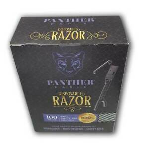 Disposable RAZOR With Safety Lock Easy to Use 100% Hygienic Panther Paris