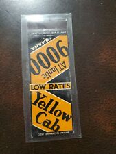 Vintage Matchbook Cover Yellow Cab