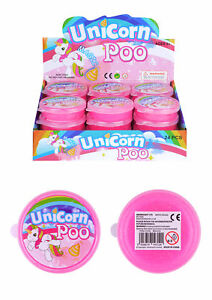 Unicorn Poo Pink Glitter Slime Putty Tub Kids Girls Party Bag Filler Toy Xmas