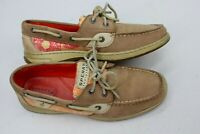 Sperry Top Sider Womens Boat Shoes Size 8 M Beige Tan