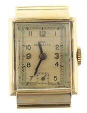 Paul Breguette mens vintage 14k gold watch, 17 jewels