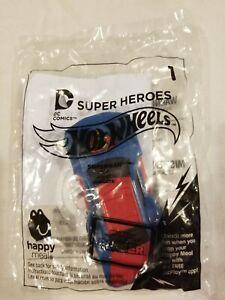 Superman Hot Wheels McDonald's Happy Meal Toy NIP DC Comics #1 Man of Steel Car