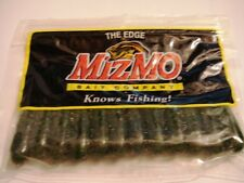 """12 MizMo Bait co 2.75"""" Amber Green Bass / Walleye Tubes New in sealed package"""