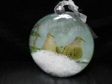 "Enesco ""Snowglobe Dove - Peace On Earth"" Ornament USED with Tags"