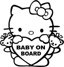 Hello Kitty Baby on Board - 20cm Sticker Any Colour Decal - BABY024