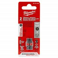 Milwaukee 48-32-4448 SHOCKWAVE Insert Bits for HeadLOK Wood Screws (2PK)