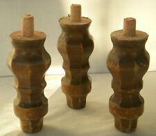 Möbelfüße / Schrankfüße Achteckig Holz / Restaurierungsbedarf