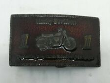 Vintage 1974 Harley-Davidson Motorcycles Bergamot Brass Works Belt Buckle USA