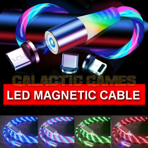 🇬🇧Magnetic LED Charger Glowing Cable for iPhone Samsung Huawei Mobile Phone