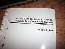 Collins SATCOM SDU-906, RFU-900, HPA-901A Pilot's Guide