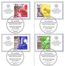 BRD 1999: Blockmarken Nr. 2051-2054 aus dem BRD-50-Jahre-Block Nr. 49! 1A 1803