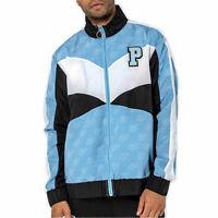 Pink Dolphin Men's Mr Positive Windbreaker Zip Long Sleeve Jacket Light Blue NWT