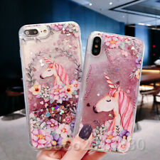 Quicksand Glitter Liquid Dynamic Flowing Case Cover Anti Fall with Pattern #6