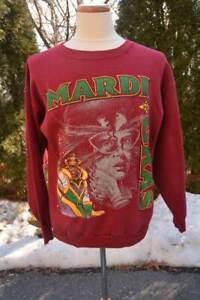 Vtg! New Orleans Mardi Gras Maroon Crew-neck Sweatshirt Men's Size XL by Tultex