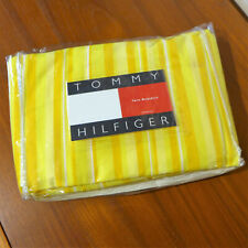 NEW Tommy Hilfige Twin Size Bed Skirt Yellow Stripes - Bedskirt