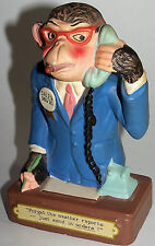 """RARE! Vintage Napcoware # C-6776 Monkey Sales Manager """"Send In Orders!"""" Beauiful"""