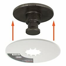 5th Wheel Lube Plate 10in Disc Hitch Trailer Kingpin Repair RV Towing Accessory