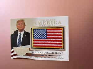 2020 POLITICAL DECISION PREMIUM CARD FLAG PATCH DONALD TRUMP SILVER FOIL GBA-1