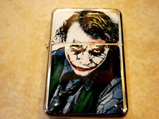 THE JOKER FACE STAR BRAND FLIP LIGHTER BATMAN MOVIE & EXTRA ZIPPO FLINTS