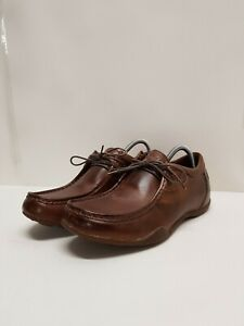Kangol UK 8 Eur 42 Brown Leather Moccasins Loafers Shoes