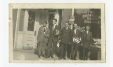 VINTAGE PHOTO MEN IN SUITS IN FRONT OF SWISSVALE, PA, SHOE SHOP BUSINESS