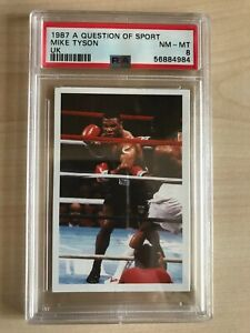 Mike Tyson Rookie Card 1987 A Question Of Sport PSA 8 NM -MT #4