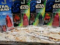 STAR WARS EMPEROR'S ROYAL GUARD AND EMPEROR PALPATINE (LOT of 4)