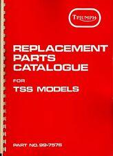 1982-83 Triumph 750 T140W TSS, OIF, OEM, (Amal UK) PARTS CATALOGUE & Supplement