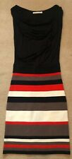 ladies karen millen dress, size 1 8-10, striped, pencil style dress, immaculate
