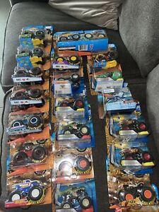 Large Lot Of 21 Monster Trucks Hot Wheels Monster Jams New