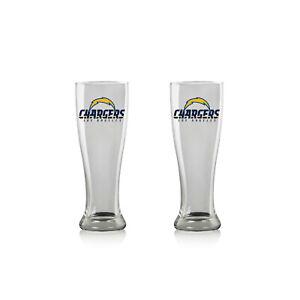 NFL Los Angeles Chargers Beer Glass Pilsner 2er Glasses Set 2 Piece Pint