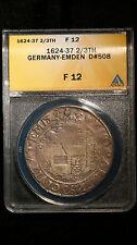 1624-1637 Germany Emden Davenport ANACS FINE 12 2/3 Taler