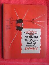 1942 SCHWARZE FARADAY SIGNALS, HORNS, BELLS, SIRENS, RINGERS, BROCHURE CATALOG