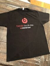 Beats by Dre Beats By Monster Cable Black Shirt Adult Size Large Short Sleeve!!