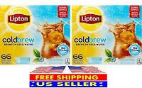 Lipton Cold Brew Iced Tea (66 ct.) 2 -Pack  - Total 132 Tea Bags - FREE SHIPPING